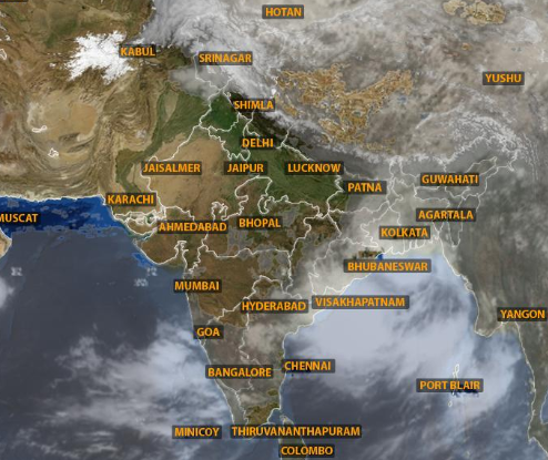 South west monsoon in india map